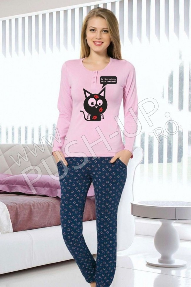 """Pijama """"Cafea pentru pupici!"""""""